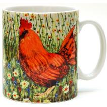 Chicken in the Garden Mug Image