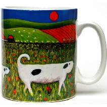 Dogs in Field Mug Image