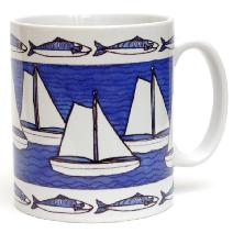 Boats and Mackerel Mug Image