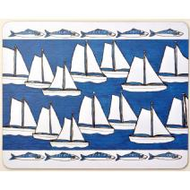 Boats and Mackerel Placemat Image