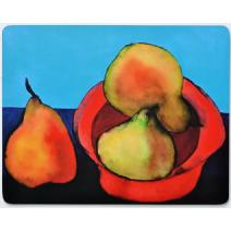 Pears in Red Bowl Placemat Image