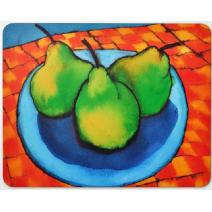 Pears on Check Rug Placemat Image
