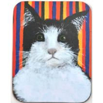 Startled Cat Coaster Image